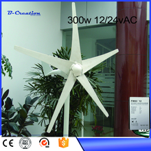2017 New Sale Wind Power Generator Gerador De Energia Generador Eolico Wind Generator Mini For Turbine 300w 12v/24v For Homes