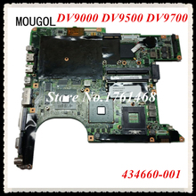 MOUGOL 434660-001 For HP DV9000 DV9500 DV9700 Laptop motherboard mainboard Discrete graphics 100% Tested Free Shipping(China)