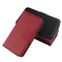 Exyuan Luxury Wallet Pouch Genuine Leather Cell Phone Flip Case For Samsung Galaxy Mega 6.3 Inch I9200 I9205(China)