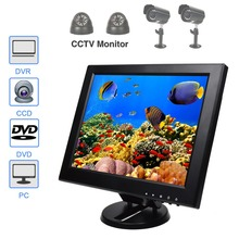 12 Inch LCD 160 Degree View Angle CCTV PC Audio Video Display Screen Professional Car Camera  Monitor With VGA HDMI AV BNC Port