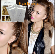 2 pcs/ package Hair Charms Hair Charmsies, Bling bling Hair Jewel Sticker You Can Pick From Different Crystals or Gems Freely(China)