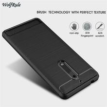 "sFor Cell Phone Case Nokia 5 Cover Shockproof TPU Brushed Style WolfRule Case For Nokia 5 Case For nokia5 Bag Fundas 5.2 "" Coque(China)"