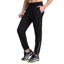 Men pants running run sports jogger jogging basketball gym pants exercise fitness long trousers loose fit(China)