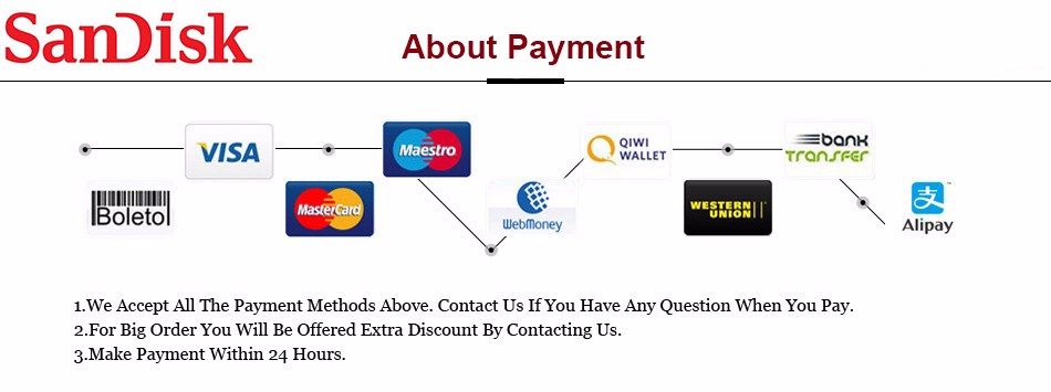 About Payment SANDISK