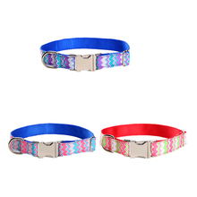 New Big Promotion Nylon Collar for Dog Three Sizes Pet Collar Pet Traction Rope Dog Lead Leash Wear-resistant 1 PCS 2017