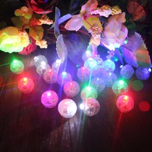 100Pcs Round Led RGB Flash Ball Lamps Balloon Lights Festival Holiday Light for Wedding Decorations Home Garden Party Supplies