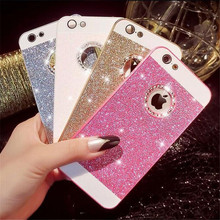 Luxury Bling Shine Diamond 3D hard PC Pink Mobile phone shell cases For iPhone 4 4S 5 5S se 6 6S 7 PIus Rhinestone capa Fundas