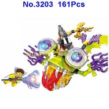 3203 161pcs The Amazing Fortune Teller 3D Game Big Eye Fish Monster Building Block Brick Toy