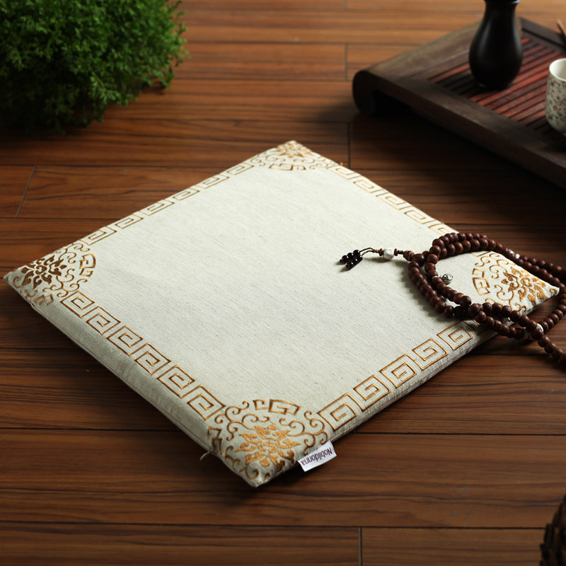 2pcs Lot Square 43cm Chair Cushion Pads Embroidered Oriental Style Japanese Floor Seat Dining