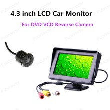best selling 4.3 inch Mini Car Parking Monitor Color TFT LCD with Reverse Camera 2-channel video input(China)