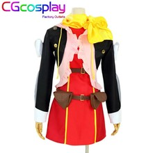 Free Shipping Cosplay Costume Tales of Zestiria Rose Uniform New in Stock Retail/Wholesale Halloween Christmas