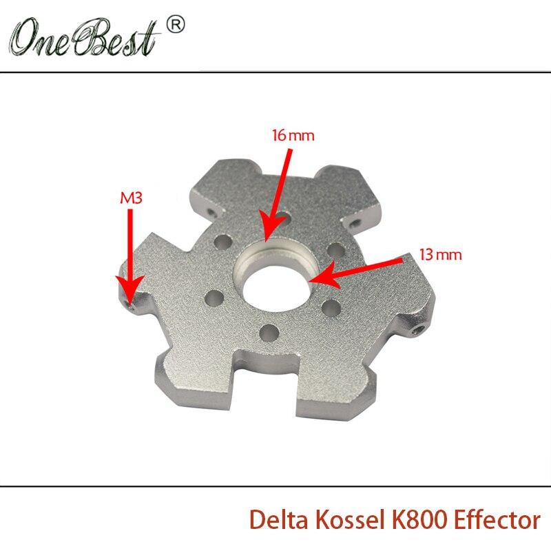 3D Printer Accessories Aluminum Full Metal M3 delta Kossel K800 Effector Fisheye Effector CNC Hanging Station Free shipping<br>