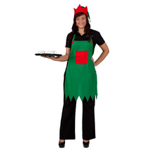 High Quality Elf Apron & Hat Set Adult Elf Costume for Christmas Party Fancy Dress Outfits Nativity