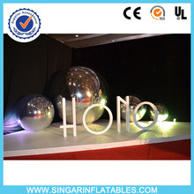 Free shipping 1.2m diameter inflatable silver hanging mirror ball,inflatable advertising ball(China)