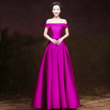 formal purple boat neck off the shoulder modern girls girl blue dressy prom party dress wine red ball gown free shipping S2904