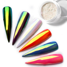 0.2g Exclusive Neon Chrome Powder Nail Glitters Uv Gel Polish Rainbow Colorful Effect Chameleon Mirror Powder Manicure Dust 2017(China)