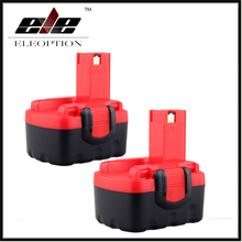 2x Eleoption Battery Replace 14.4V 14.4 volt Battery For Bosch Drill BAT038 BAT040 BAT041 BAT140 BAT159 Ni-CD(China)