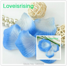5 packs(720pcs) Baby Blue Non-Woven Fabric Artificial Rose Flower Petal For Wedding Party Favor Decor-Free Shipping(China)