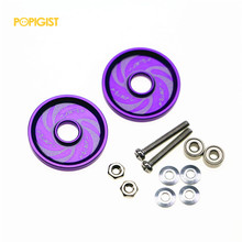 POPIGIST Mini 4wd 19mm Aluminum  Colored Rollers The Custom Parts For Tamiya Mini 4wd 19mm Aluminum Guide-Wheel D043  2Sets/lot