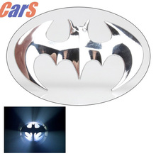 Car Stickers 3D Cartoon Batman  Bat Shape Car Styling  Accessories Car Motor Decal Sticker Metal Car Badge decoration