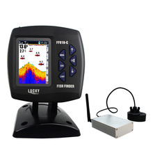 Free Shipping! Lucky FF918-CWLS Wireless Remote Control Boat Fish Finder 300m/980ft wireless operating range(China)