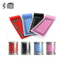 Ultra-Thin Bluetooth Wireless Waterproof Silicone Keyboard For iPad 2 3 4 Mini For Samsung H7T07(China)