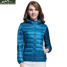 2017 New Casual 90% Ultra Light White Duck Down Jacket Women Autumn Winter Warm Coat Lady Plus Size Jackets Female Hooded Parka
