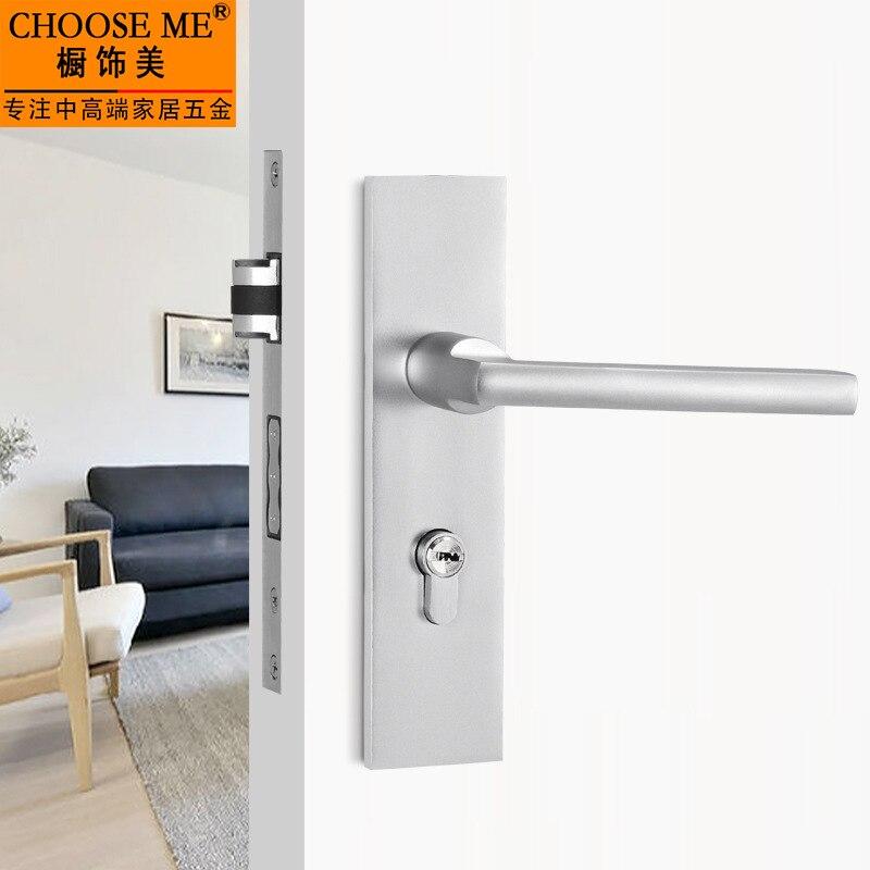 Door Interior Doors Lock Bedroom DDoor Security Aluminum Lock Indoor Cylinder Hardware Household Universal Indoor Door Lock<br>