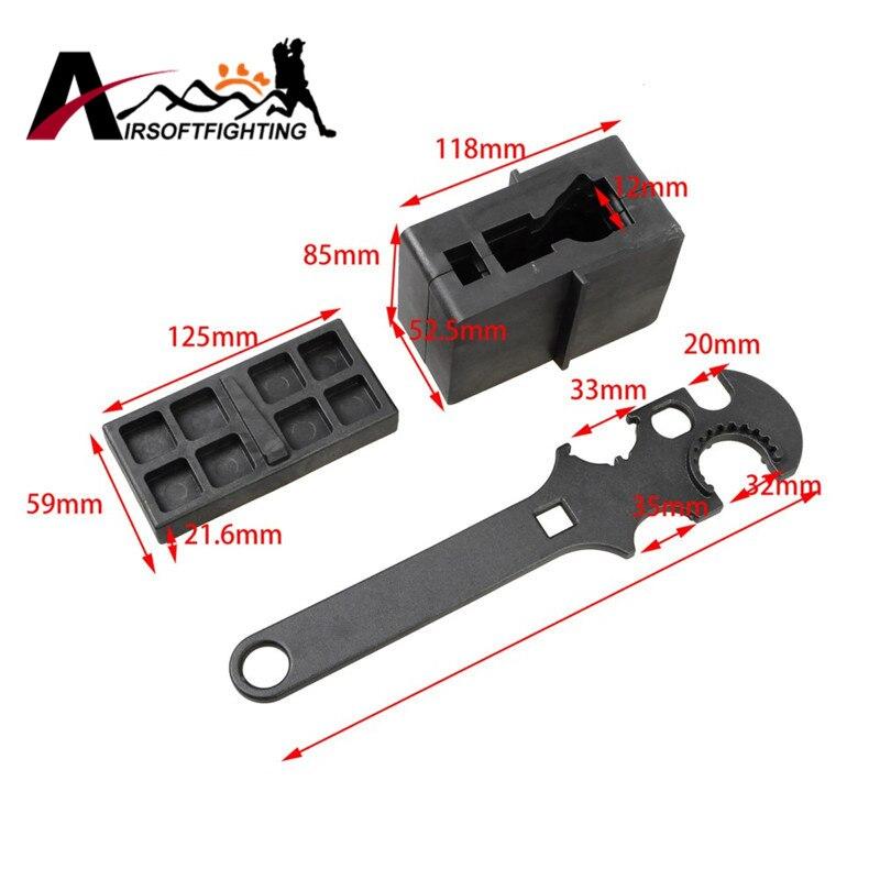 3 PCS Gunsmith Armorers Tool Kit Rifle Lower &amp; Upper Vise Block &amp; Wrench Tactical  Hunting Gun Tools Set <br>