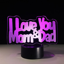 Best Gift for Parents Love Mom Love Dad Wholesale Personality Creative Gifts LED Light 3D Decorative Lamp