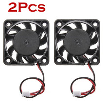 2pcs /lot 12V Mini CPU Cooling Computer Fan - Small 40mm x 10mm DC Brushless 2-pin Black Cool Fan#25