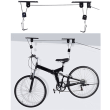 Bike Bicycle Lift Ceiling Mounted Hoist Storage Garage Hanger Pulley Rack Bicycle Accessories Lift Assemblies