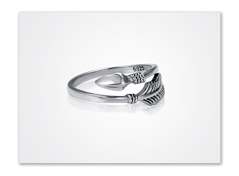 Sterling Silver Cupid Ring