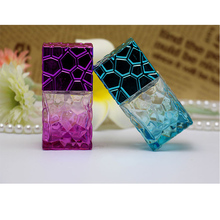 Square 30ml Spray Bottles Portable Perfume Atomizer Refillable Glass colorful parfum bottle Travel empty cosmetic container