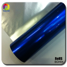 Rose certification 1.52x20M air free bubbles high stretch chrome car wrap vinyl(China)