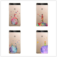 cute The Little Prince Design transparent clear Skin Cover Case For Huawei P8 P9 Lite soft silicone TPU Phone Cover(China)