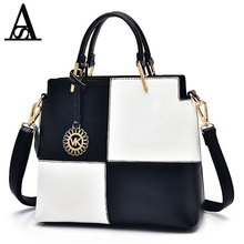 AITESEN Black White Squares Bump Color Hardware Pendant Single Shoulder Michael Handbag Lady Designer Carteras Y Bolsos De Mujer(China)