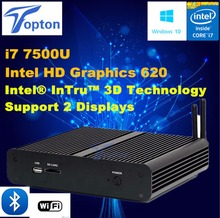 Intel HD Graphics 620 Kaby Lake i7 7500U Fanless Mini PC Windows 10 Game Home Office PC Desktop Computer 3-year warranty(China)