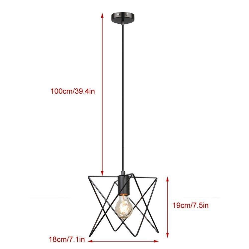 Retro Birdcage Pendant Light Droplight Lighting Industrial Loft E27 Pendant Lamp Light Fixture<br>