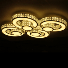 modern crystal ceiling lamp plafonnier lamparas de techo acrylic lights child flush mount bedroom livingroom light fittings
