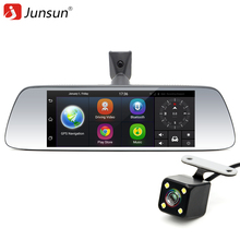 "Junsun 7"" Touch Special Car DVR Camera Mirror GPS Bluetooth 16GB Android 5.0 Dual Lens Full HD 1080p Video Recorder Dash Cam"