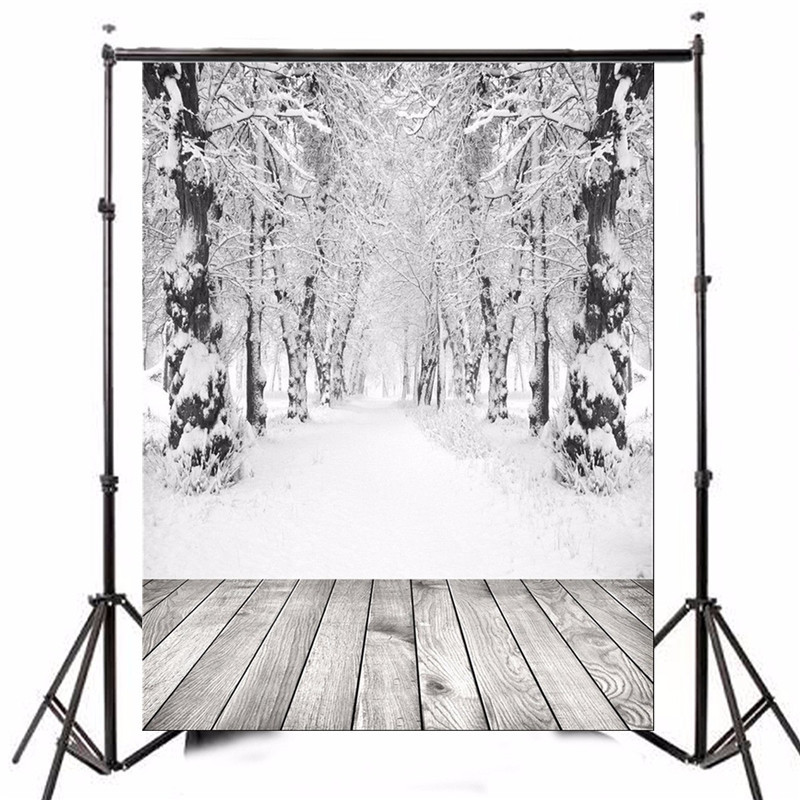 5x7ft Vinyl Photography Background photo Studio Props Christmas theme Ice And Snow Forest Wood Floor Backdrop 2.1mx1.5m<br><br>Aliexpress