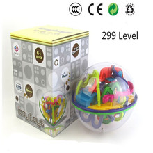 3D Magic Maze Ball 299 Closed Level Intellect Ball Children's Educational Toys Orbit Game Intelligence Christmas New Year Gift(China)