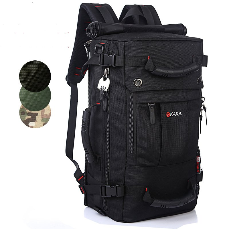 High Quality Travel Bags Large Capacity Men Backpacks Mens Multi-purpose Travel Backpack Multifunction Waterproof Shoulder Bag<br>