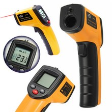 GM320 Laser LCD Digital IR Infrared Thermometer Temperature Meter Gun Point -50~380 Degree Non-Contact Thermometer(China)
