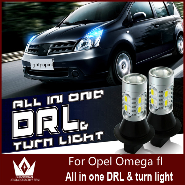 Guang Dian car led light Daytime Running Light  with signal DRL&amp;Front Turn Signal Kit Resistor For Opel Omega fl T20 7440 WY21W<br><br>Aliexpress