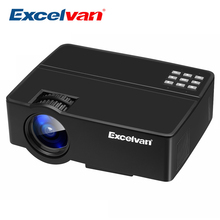 Excelvan E08 E09 Portable LCD Projector Home Cinema 1080P (Optional Android OS , Bluetooth WIFI, Support AC3 ) LED 3D Beamer(China)