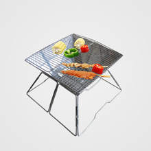 Portable Large Outdoor BBQ Grill Stove Stainless Steel Folding Charcoal Grills Barbecue Carbon Oven Grill for 6-8 Person