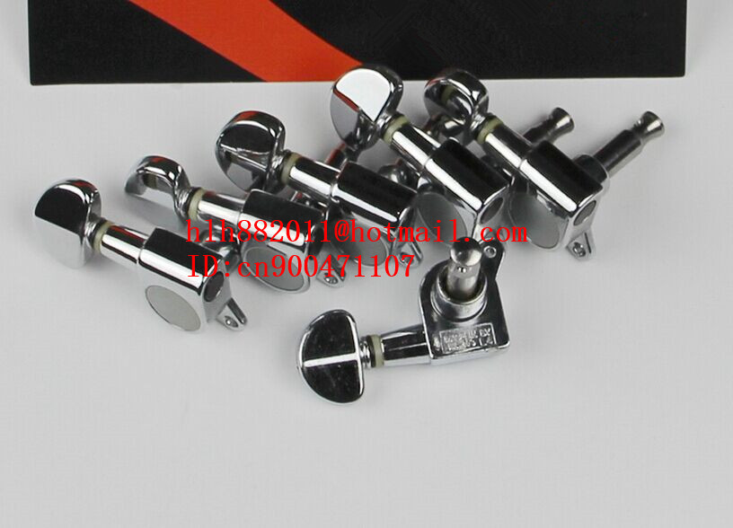 free shipping new left hand electric guitar chrome  tuning peg guitar button for one side of the guitar J-03  AR-19<br>