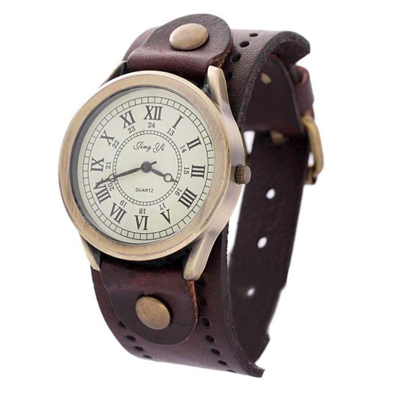 2016 New Punk Style Quartz Watches Women Fashion Casual Watch Dress Watches Vintage Quartz Analog Bracelet Watch Reloj Mujer<br><br>Aliexpress